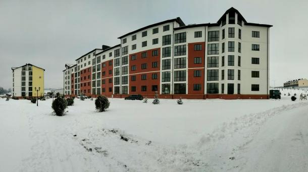 "Apartments at the apartment complex ""Schasluve"""